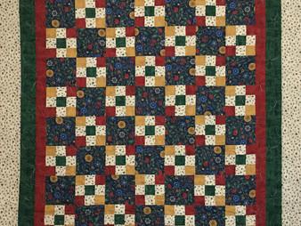 Sandra Mitchell Nine Patch Quilt