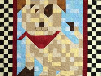 Chris Olsen Patchwork Puppy Quilt
