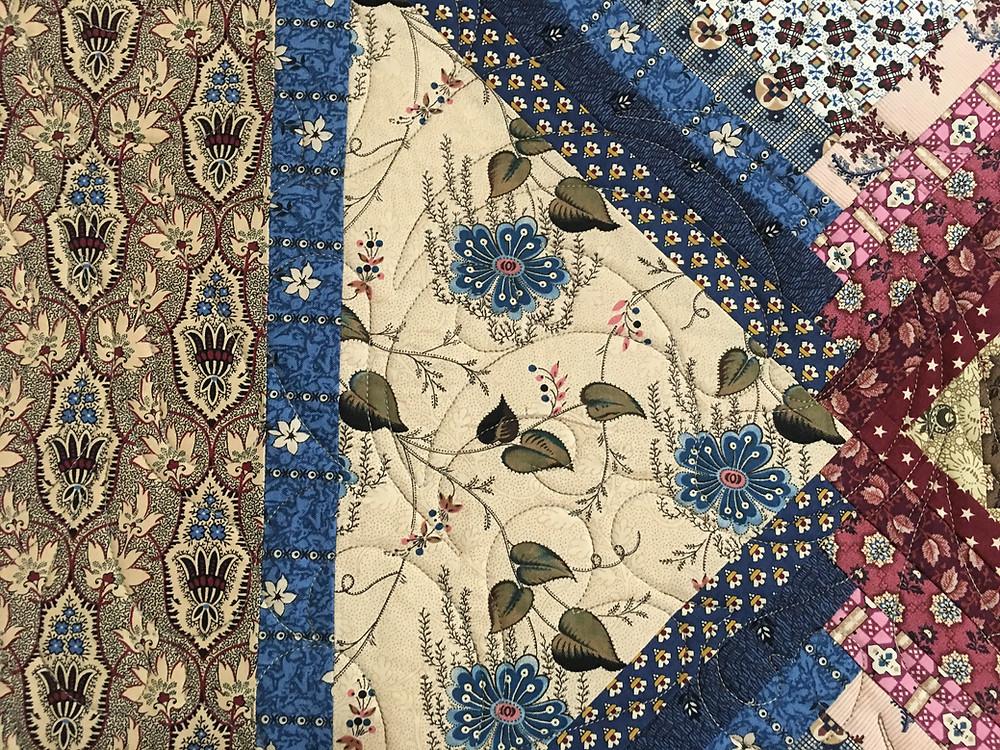 close up of Sampler Quilt by Cindy Manning