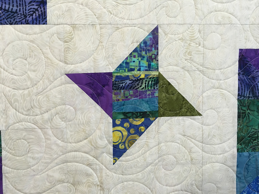 another closeup of Lynne Gypsy Sampler star block