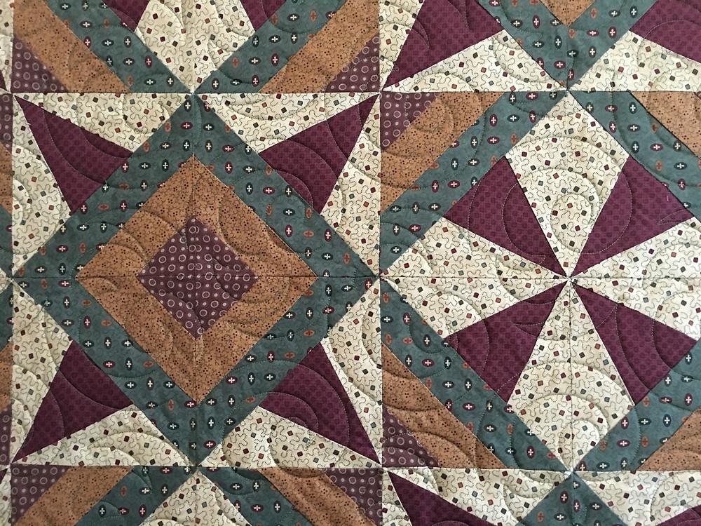close up of Aline wild block in timeless treasures fabrics