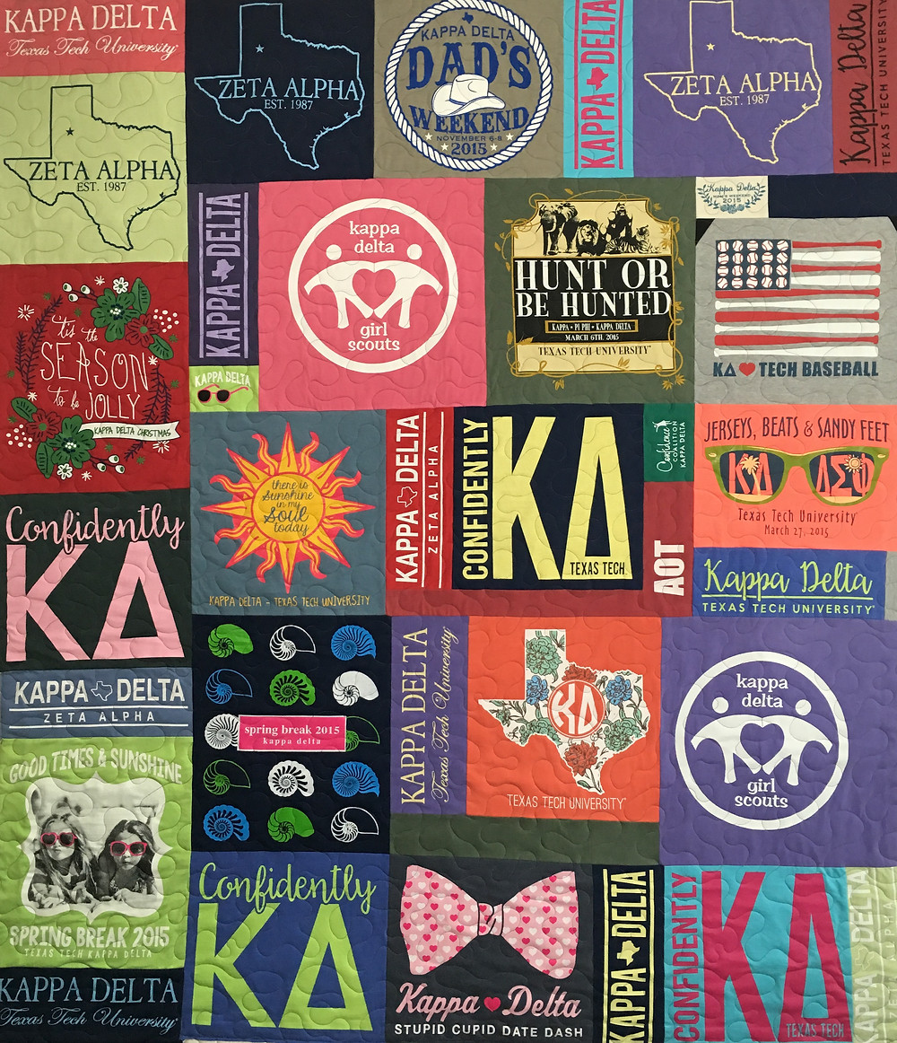 Donnis t shirt quilt for daughter