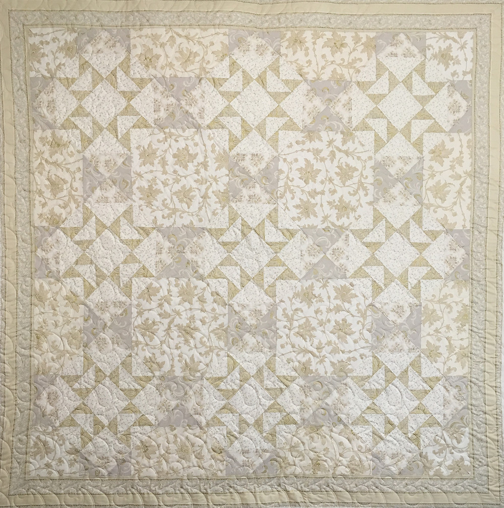 Penny Downtown Abbey Quilt in tone on tone