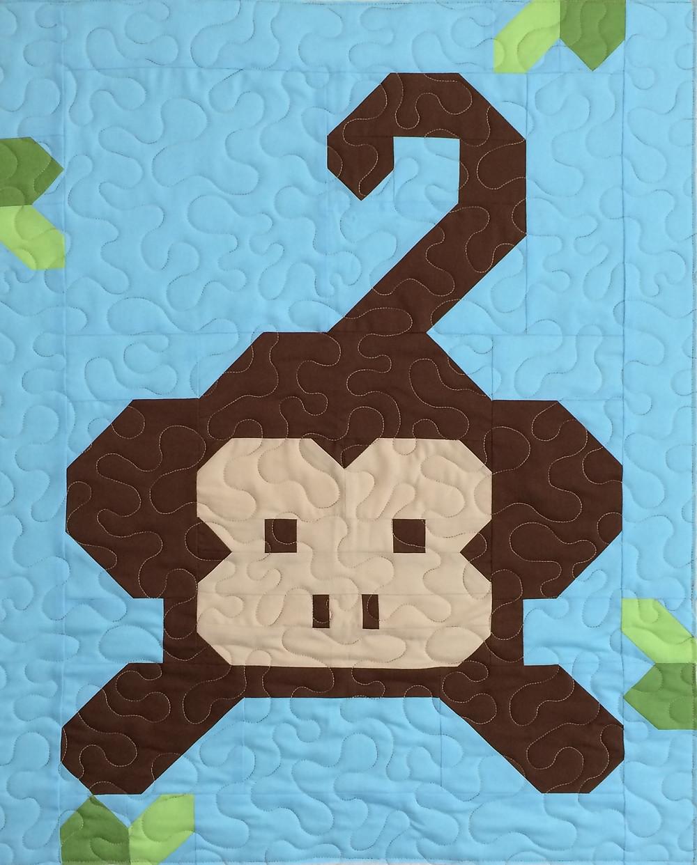 Kimberly Monkey Baby Quilt