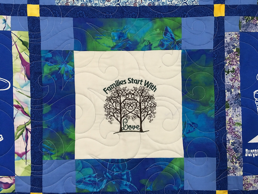 another close up of Wendy Bell Family Reunion quilt