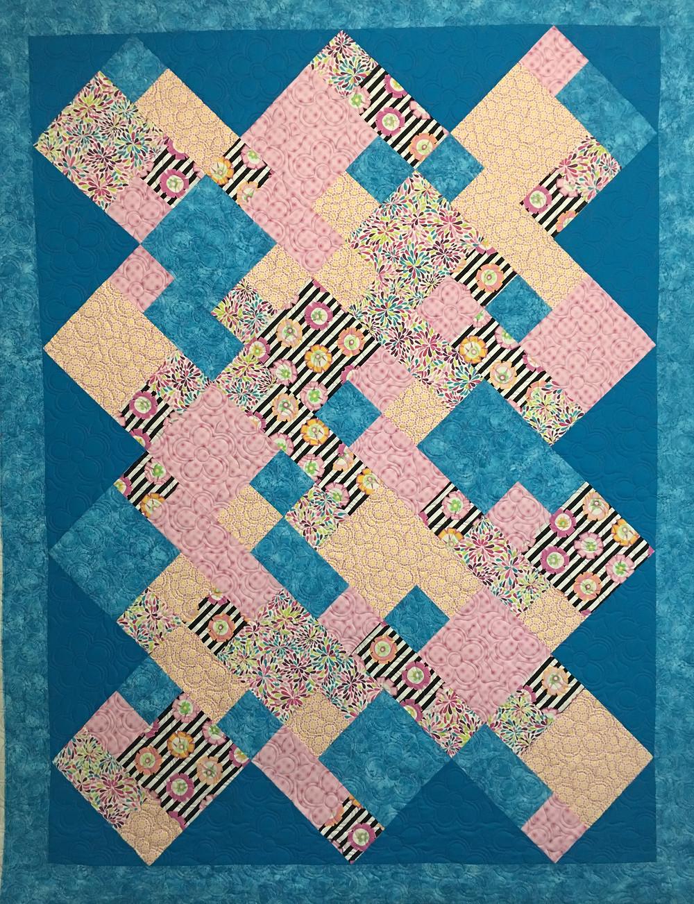 Scrappy Blocks Quilt by Charlene Lancaster