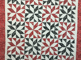 Jefferson Sutton Half Triangle Stars Quilt