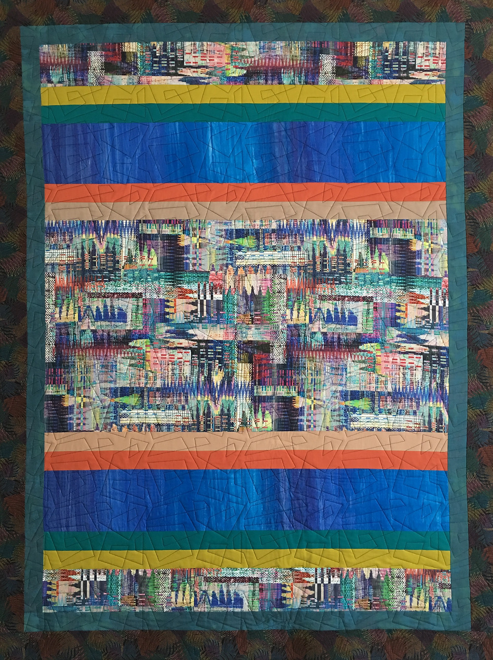 City Scape Quilt by Sally Krebs
