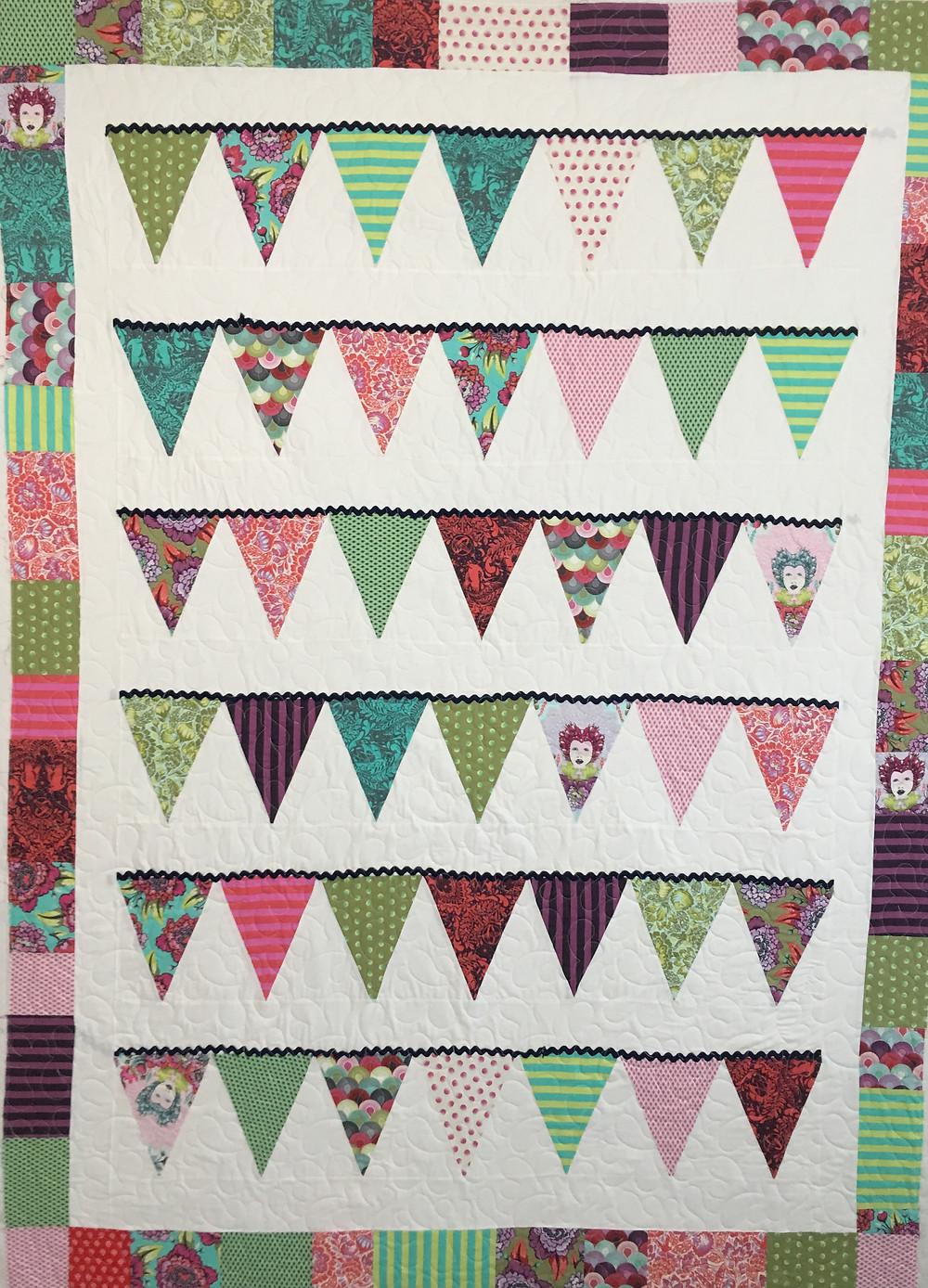 Pennant Quilt by Elizabeth Cicchino