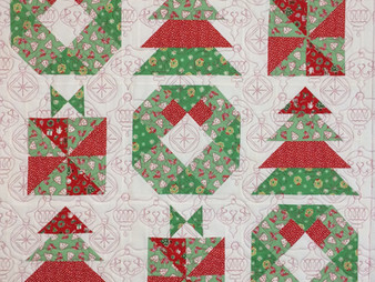 Delfina Guerra's Christmas Wall Hanging and Table Runner