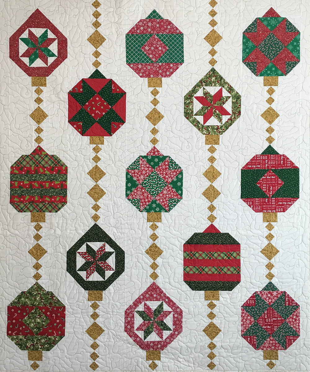 Christmas Ornaments Felicity Quilt by Mary Derryberry
