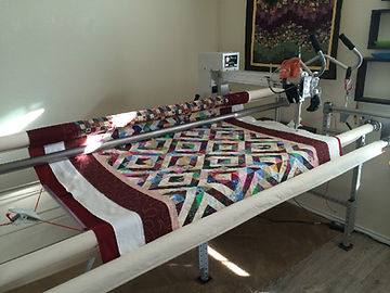 Queen size quilt on MyLongarm quilting machine