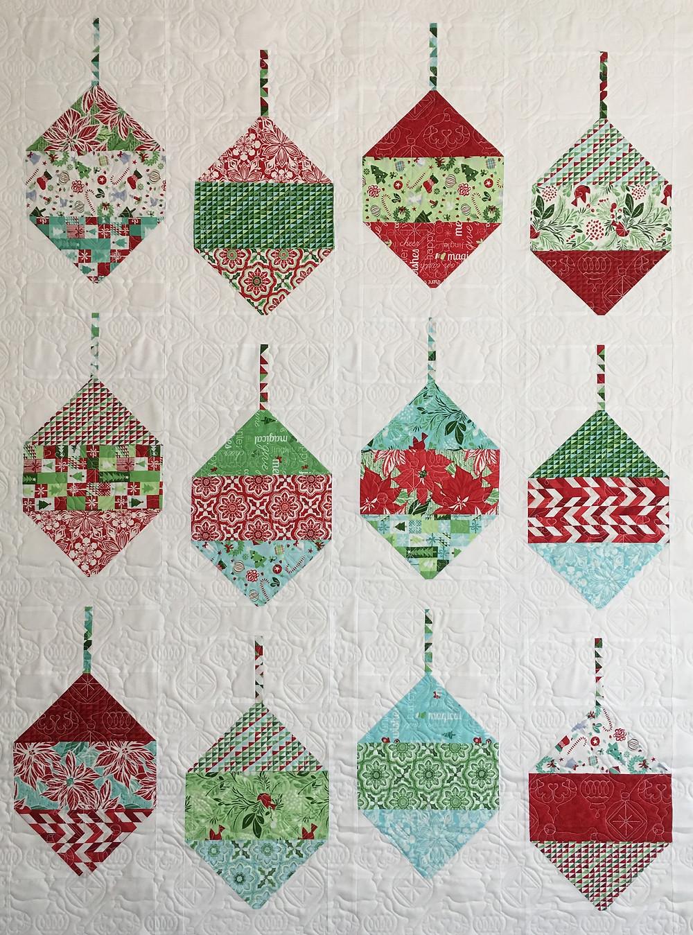 Christmas Ornament Quilt by Delfina Guerra