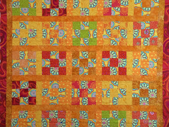 Nancy Thornton Kaffe Fasset Orange Yellow and Red Quilt