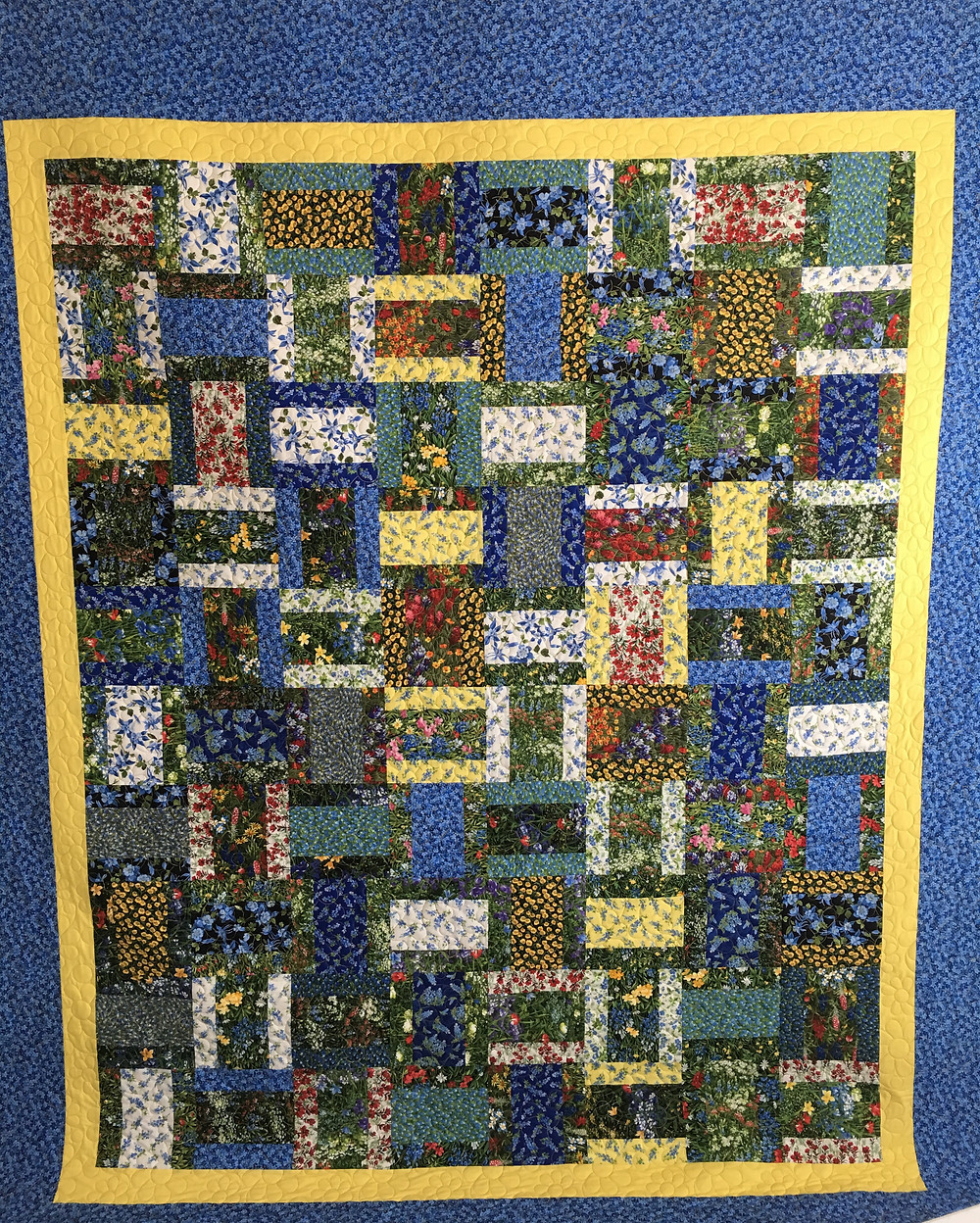 Texas Wildflowers Jelly Layer Cake quilt by Chris Olsen