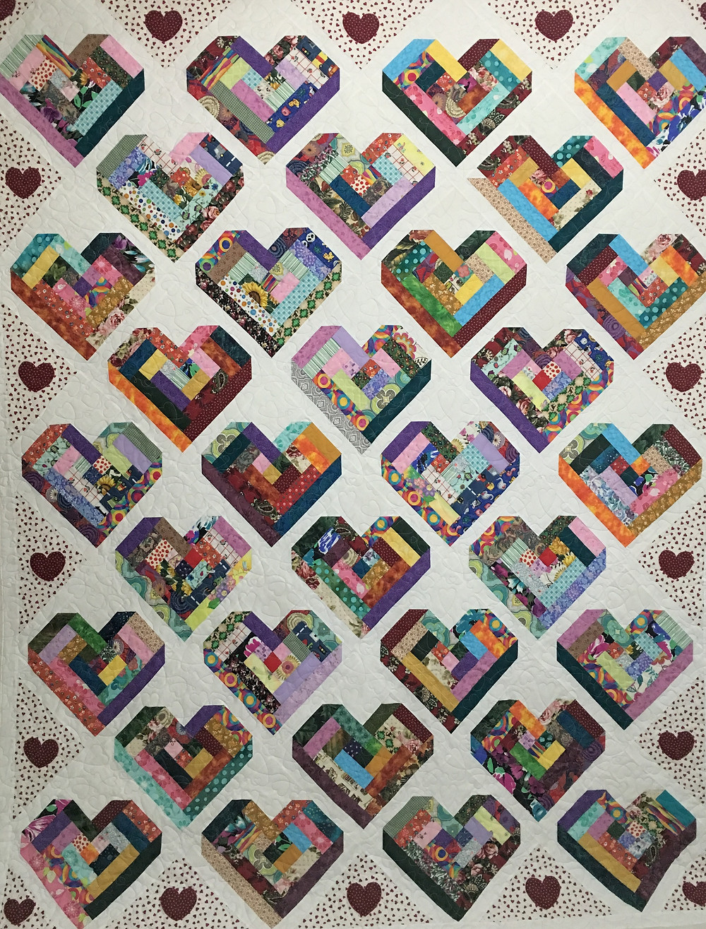 Hearts on Point Quilt by Liz Zoch