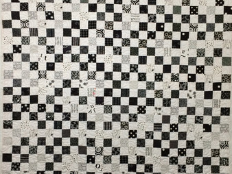 Jean Tucker Black and White Quilt