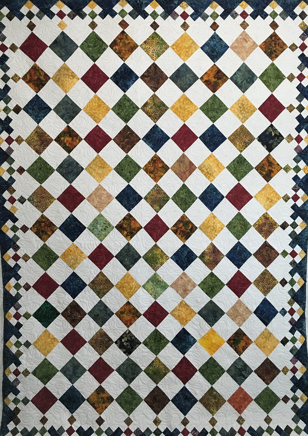 Diamond Patch Quilt by Roxane Darmell