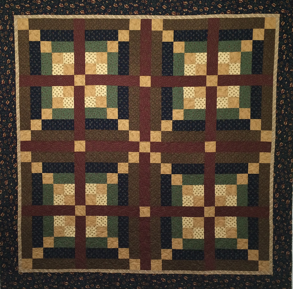 log cabin quilt, fall color quilt