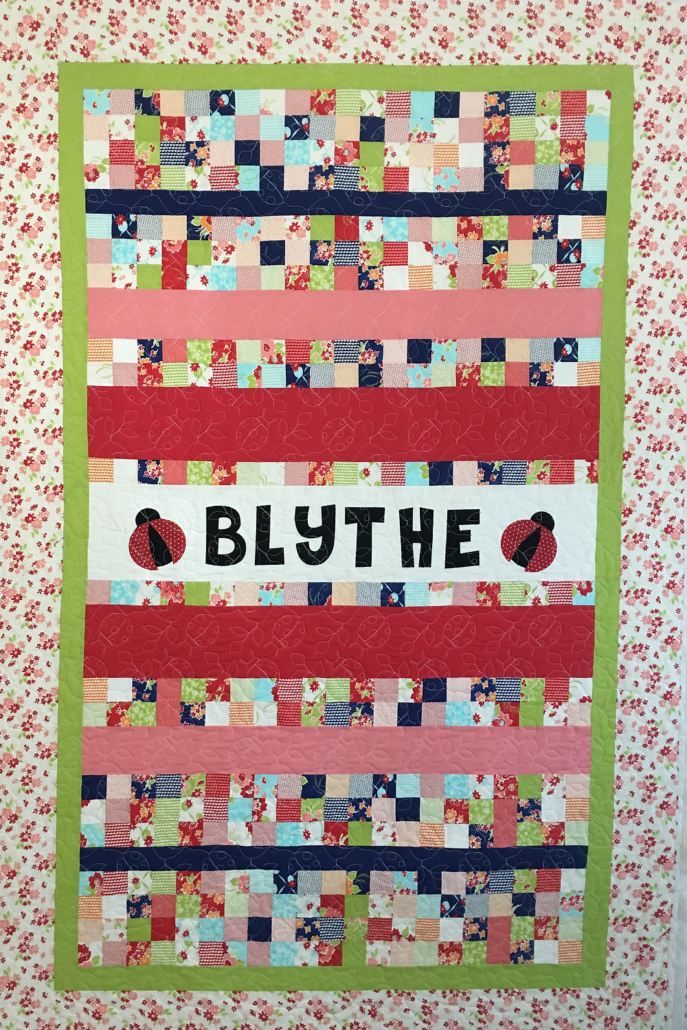 Baby Quilt for Blythe by Leanne Strum