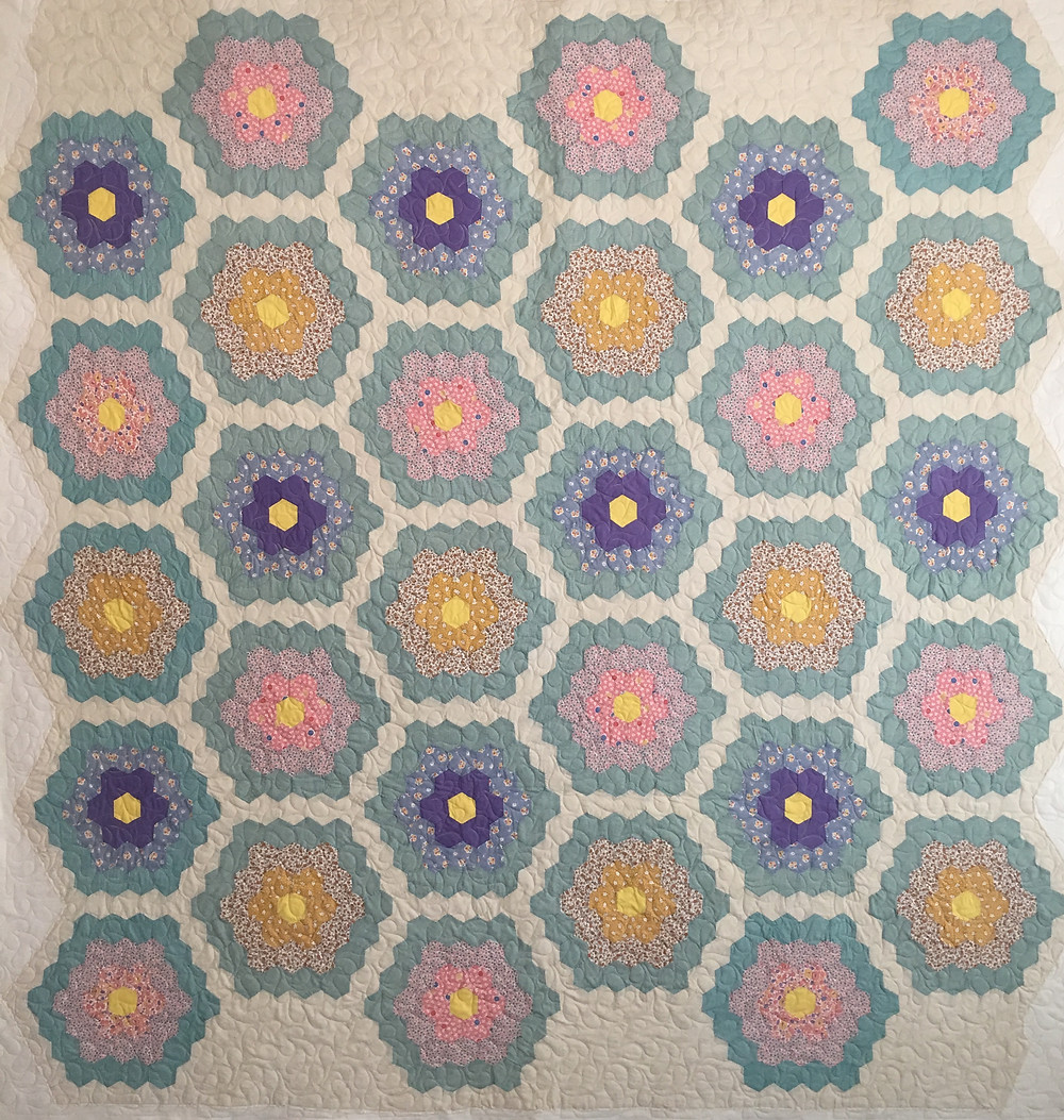 Antique Hexagon Quilt by Dyanna Eastwood