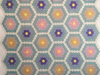 Dyanna Eastwood Antique Hexagon Quilt