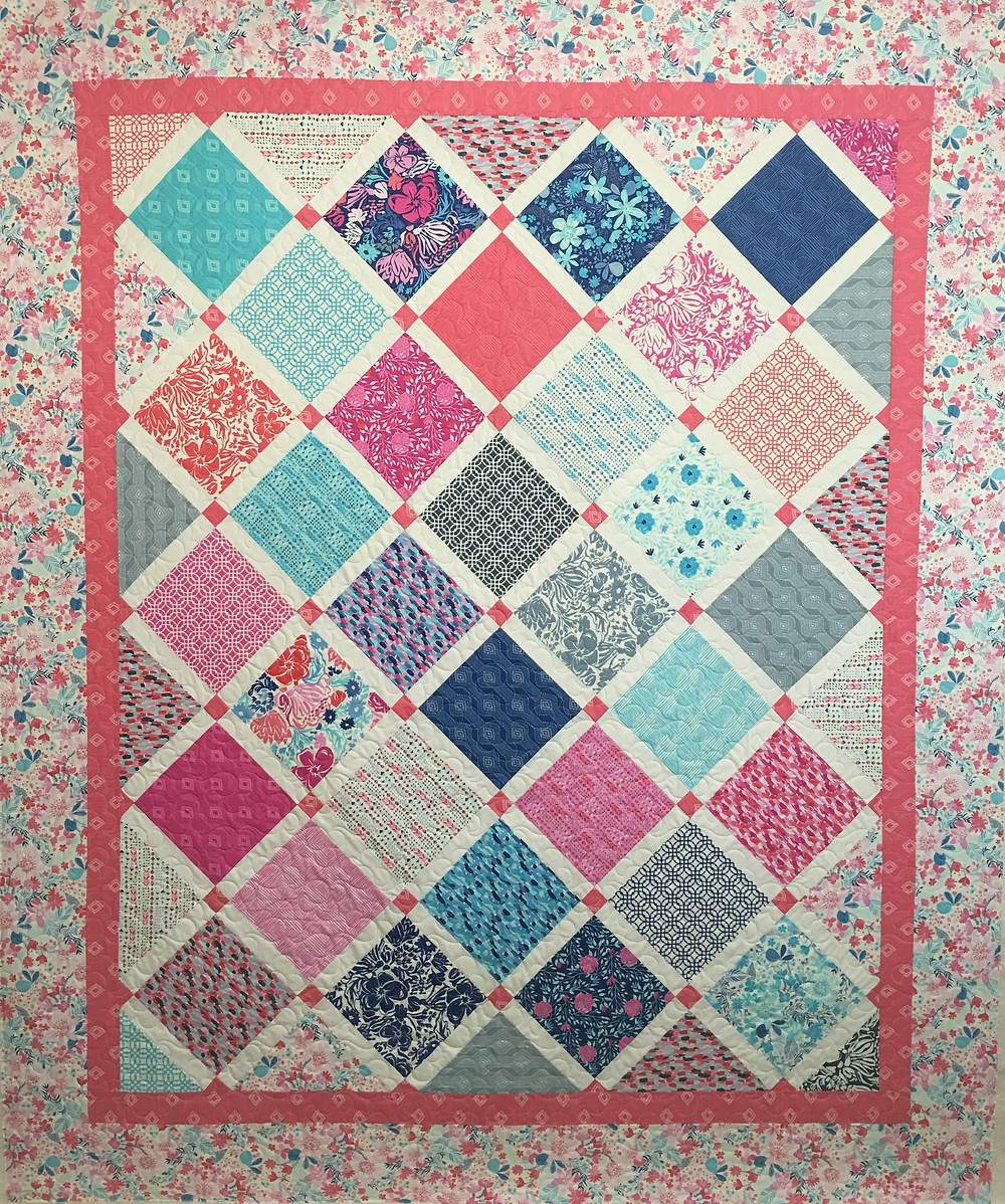 Anna Paradise Quilt in shade of Pink