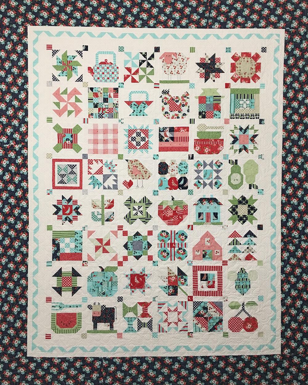 Farm Girl Vintage Quilt by Deborah Hawkins