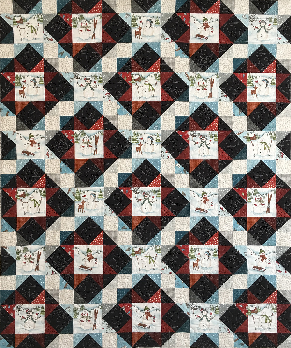 Snow Days Quilt by Leslie St.Onge