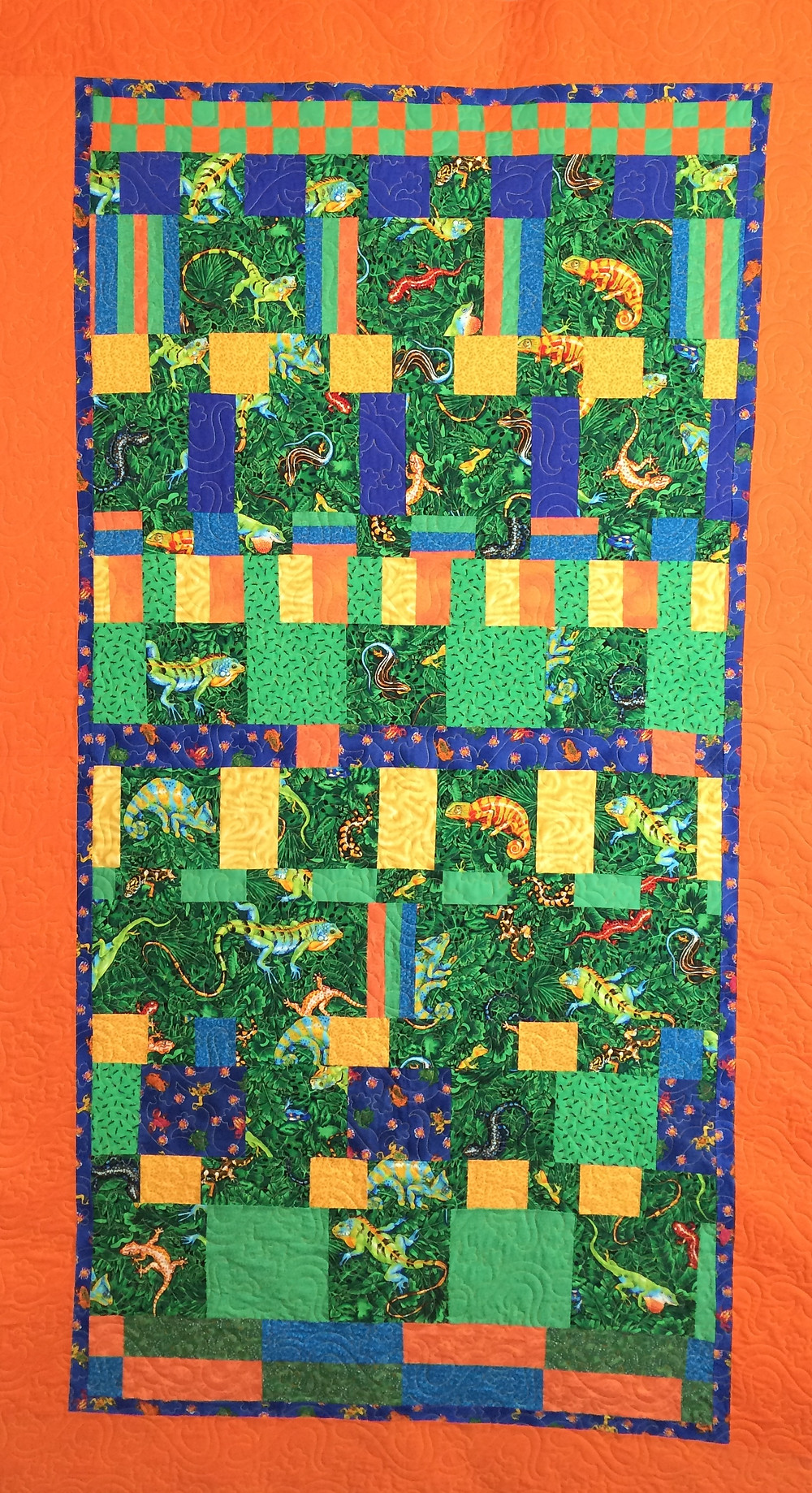 Jennifer Lizards by the Row Quilt