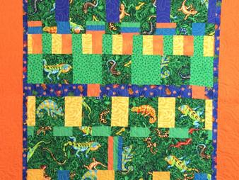 Jennifer Adams Lizards by a Row Quilt