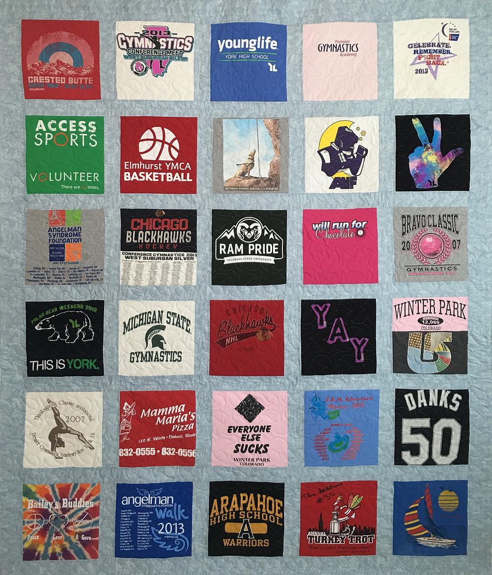 Caroline T Shirt Quilt by Leslie Goddard