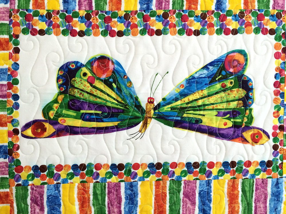 closeup of very hungry caterpillar that becomes a beautiful butterfly