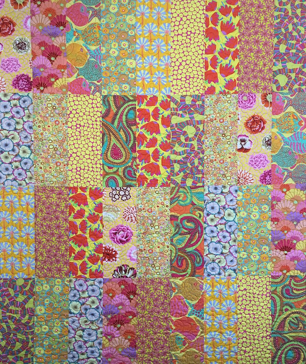 Delfina's Kaffe Fassett fabrics in her Easy Living Villa Rosa Quilt
