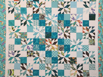 Sandy Benson Stars and Squares Quilt