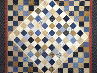 Sally Krebs On Point Center Block Quilt
