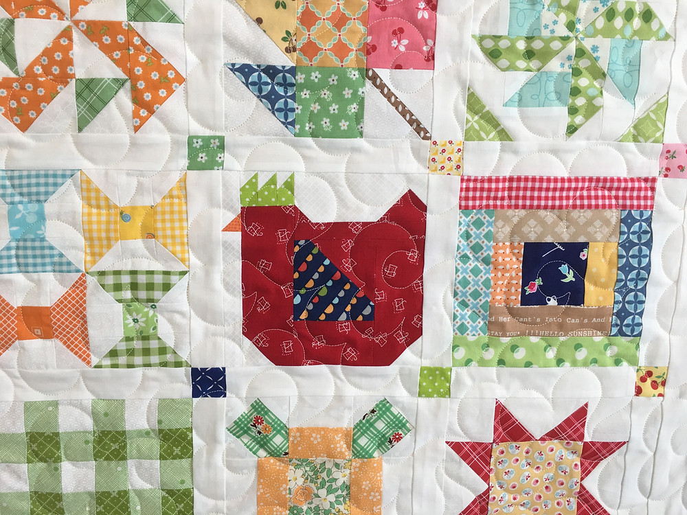 Curves Quilting Pattern on Sampler Quilt by Sally Matoushek