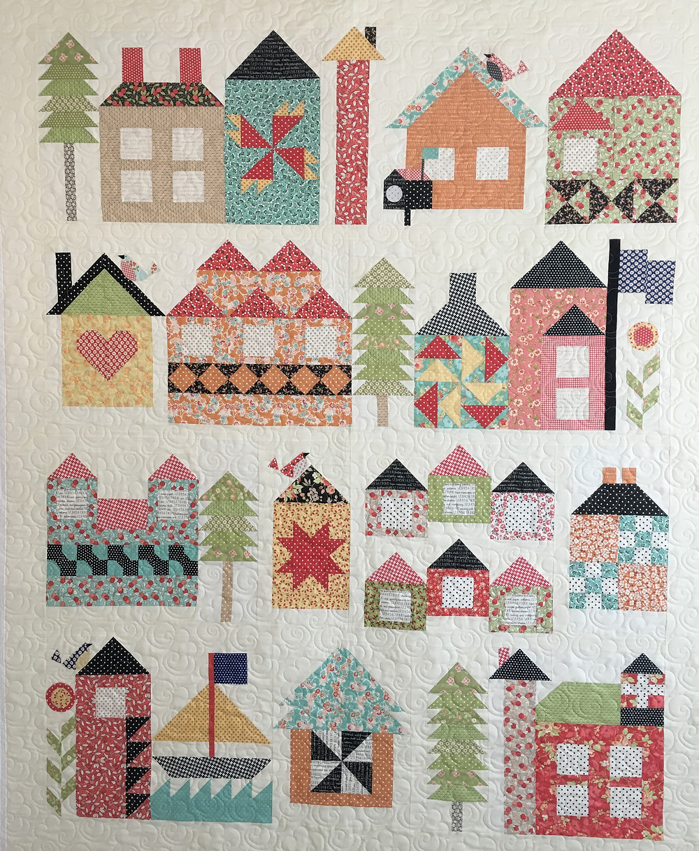 Sampler of Houses Quilt by Sally Matoushek