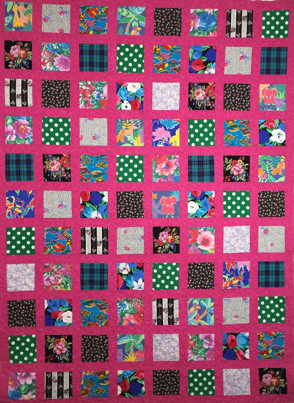 Cheryl Hot Pink and Multi Color Quilt