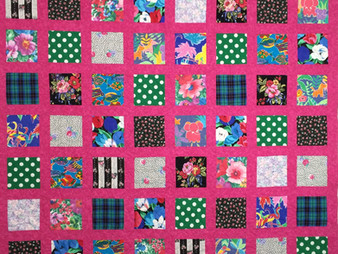 Cheryl Burns Hot Pink and Multi-Color  Quilt