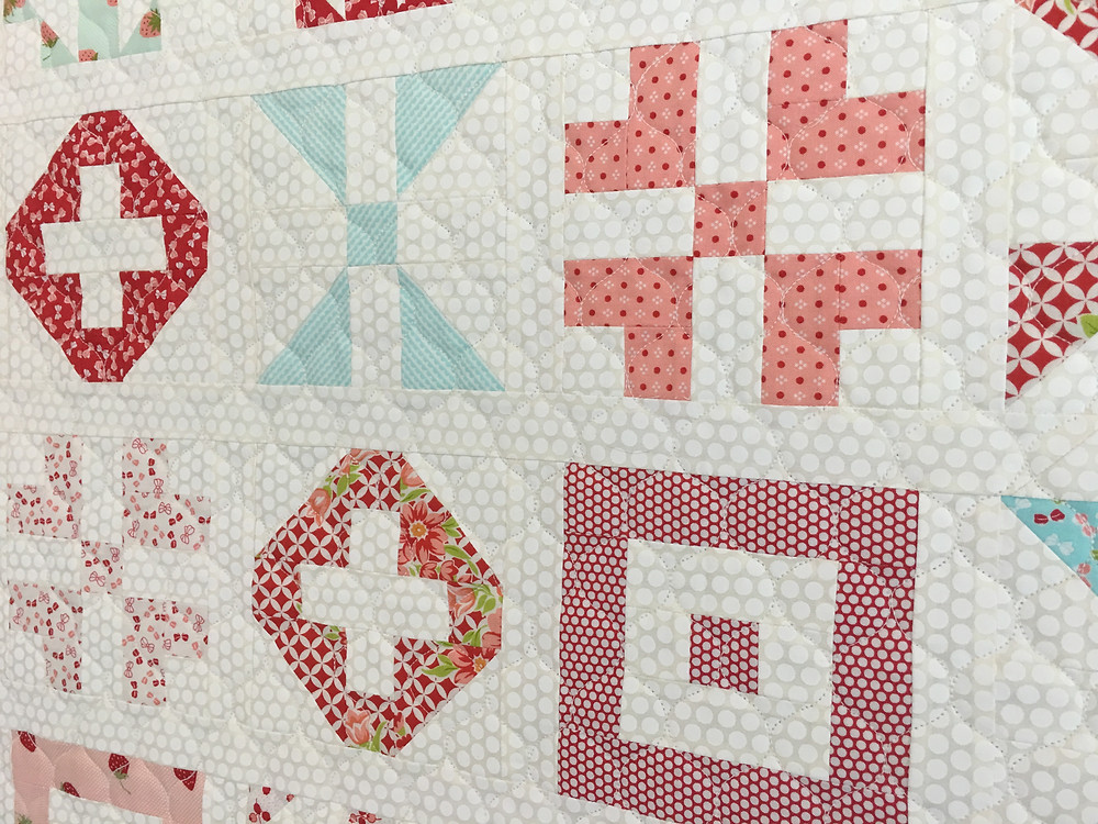 closeup of Patchwork Quilt by Deb Taylor