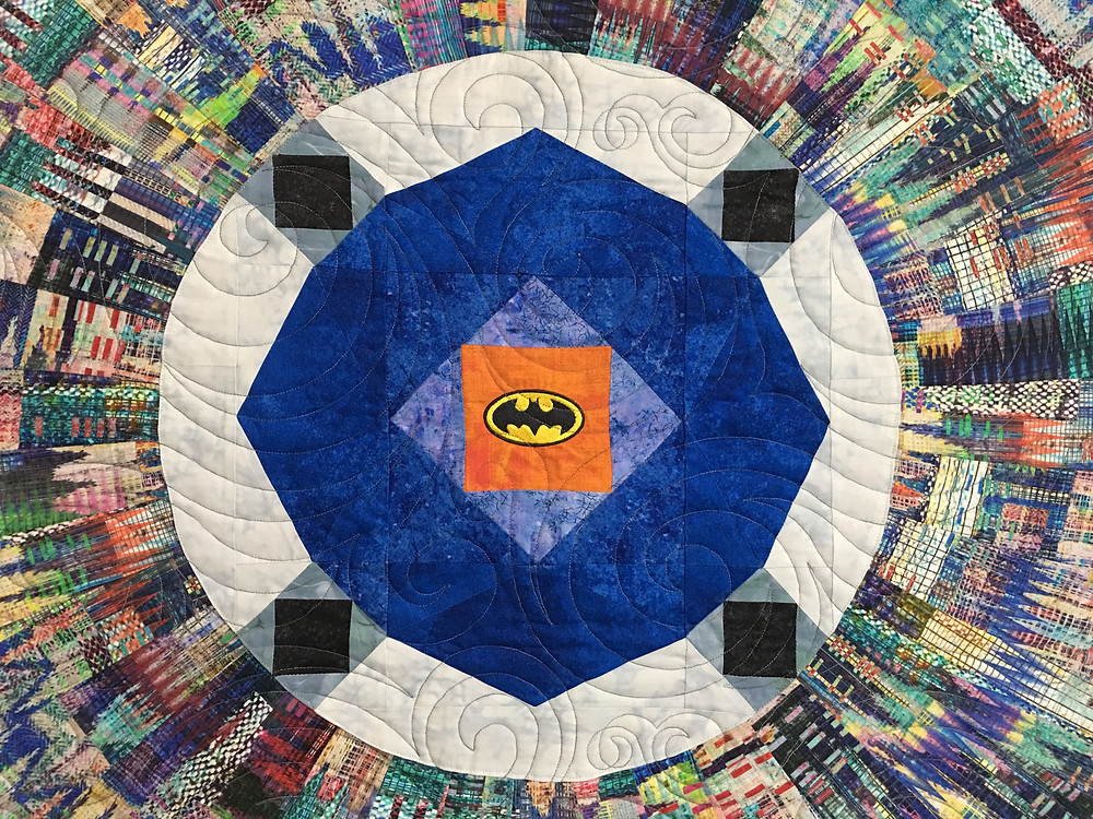 Center of Gotham Quilt by Peggy Krebs
