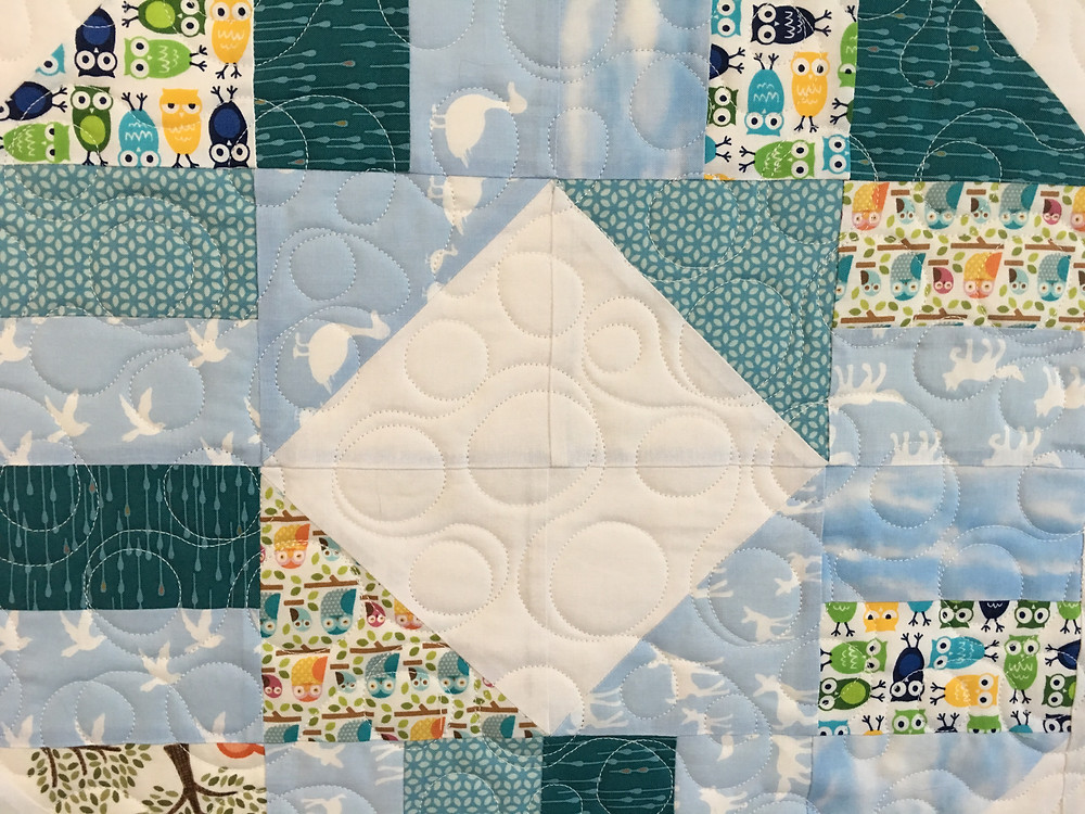 close up of Elsa Murray Life Saver Quilt