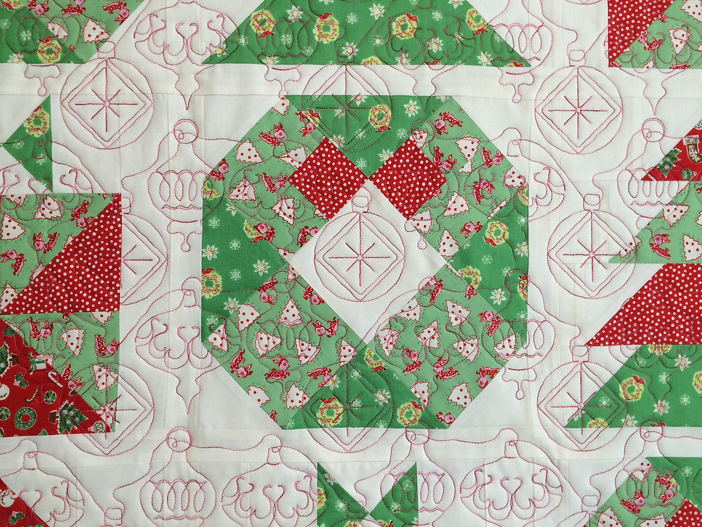 Christmas ornaments as a quilting design