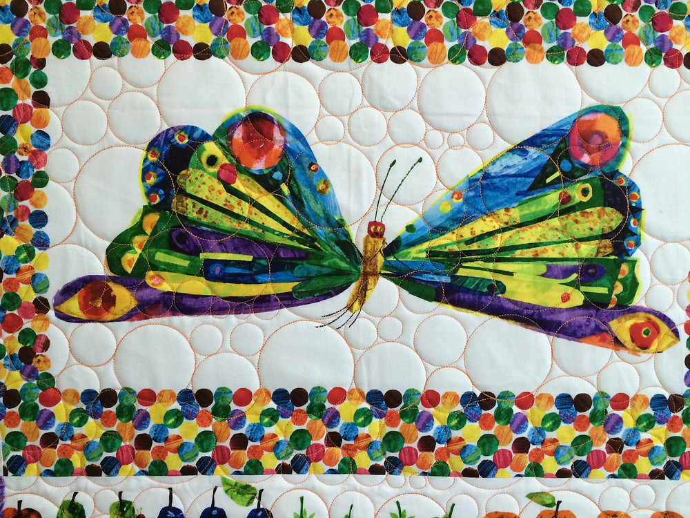 close up of butterfly quilt block