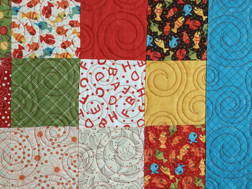Circular quilting design adds a great element to the fabric