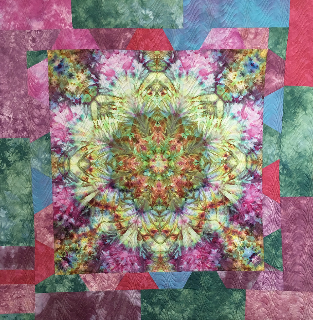 Burst of Color Quilt by Laura Joy