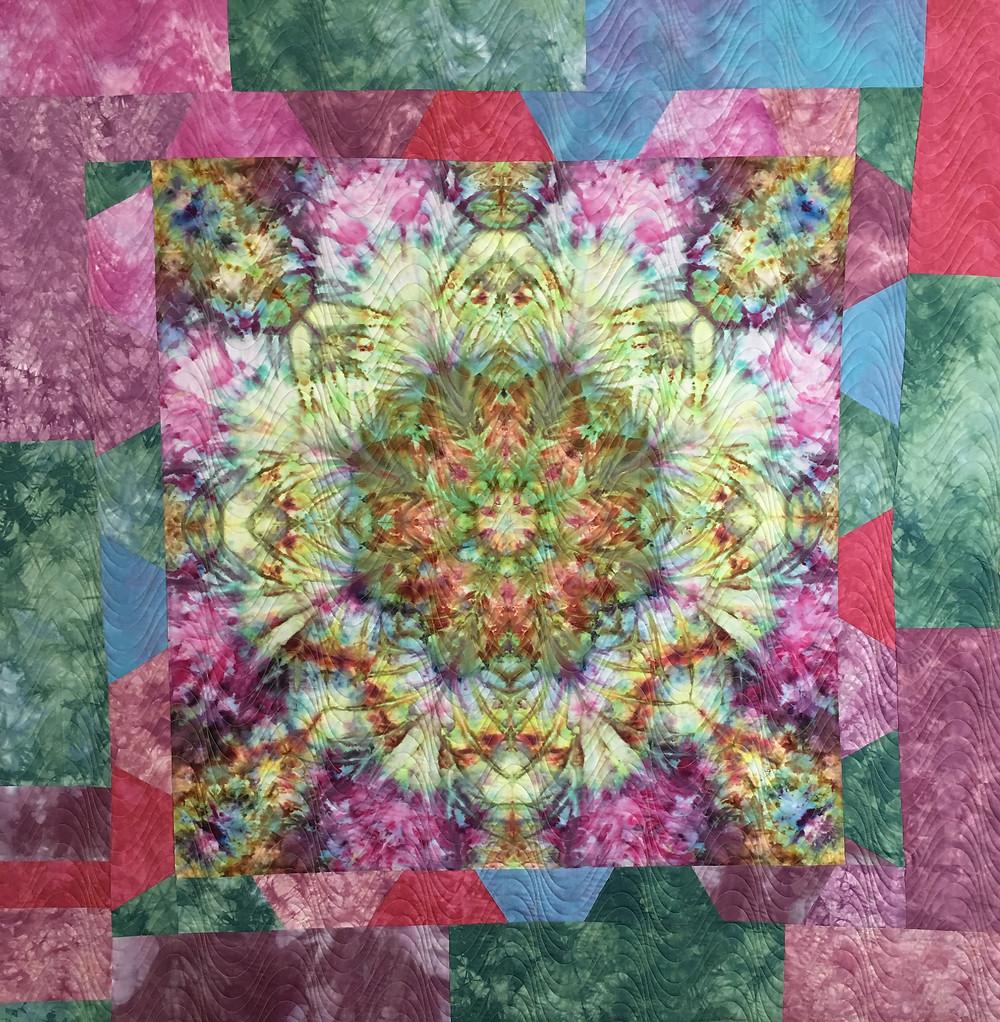 Burst of Color Quilt by Laura Joy