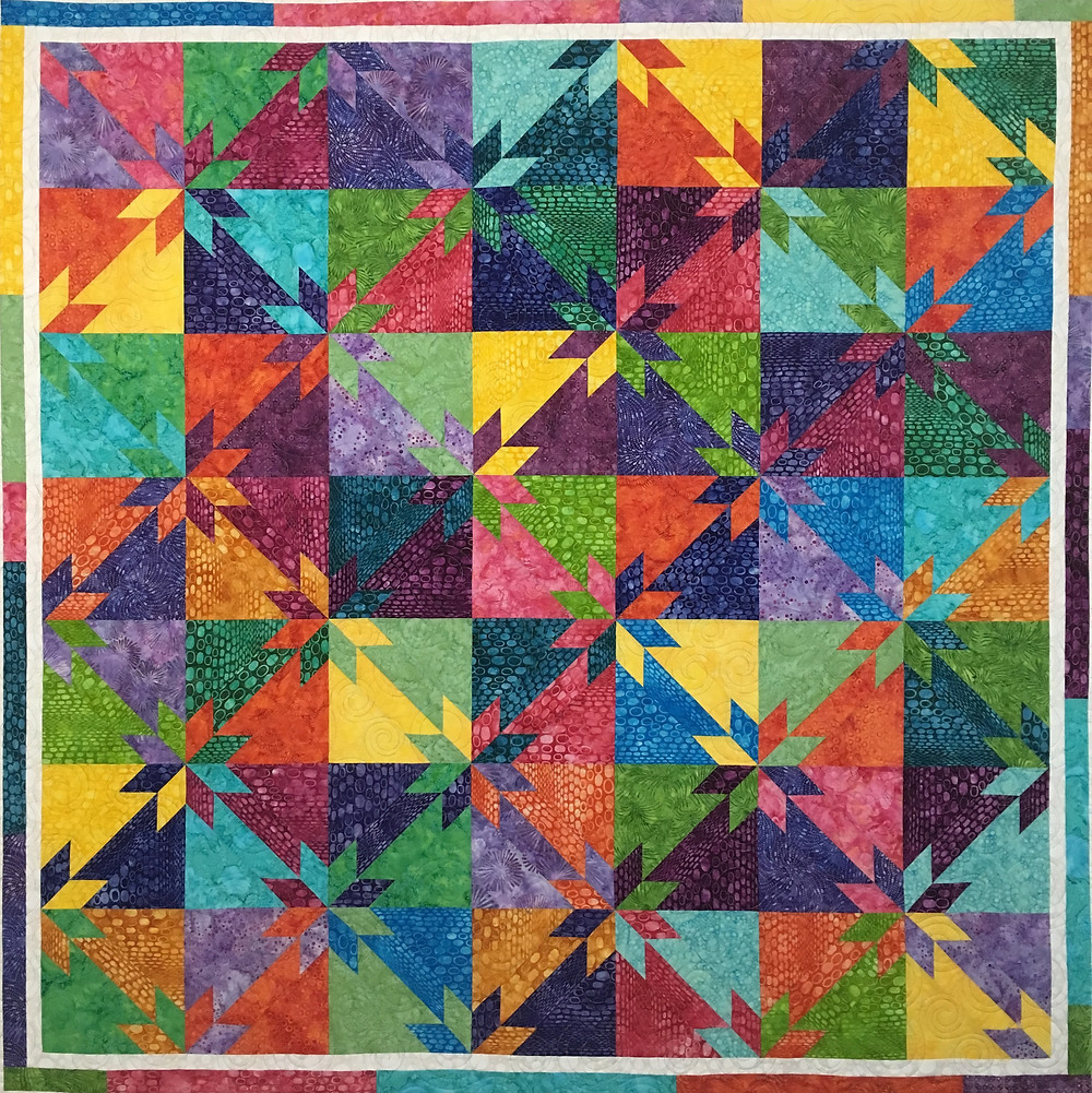 Multi Color Hunter Star Quilt by Nicole Choiniere Kroeker