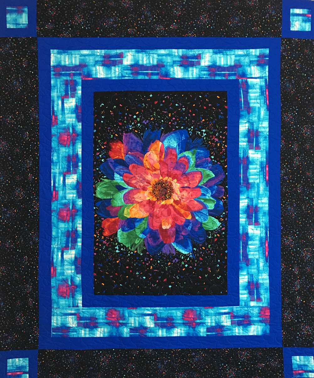 Confetti Flower Quilt by Jeri Couthen